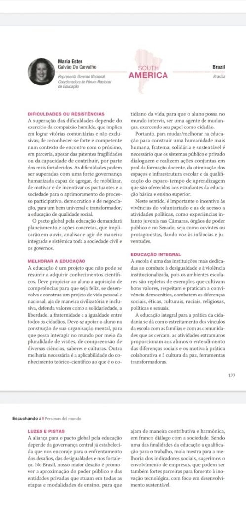 Pacto Global Educativo - Ester Carvalho